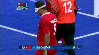Football 5-a-side - TUR vs BRA - 1st Half P2  - Men's Prelim. Pool B - London 2012 Paralympic Games