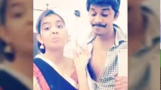 funny dubsmash of cute real couple arun sanjana vadivelu dubsmash