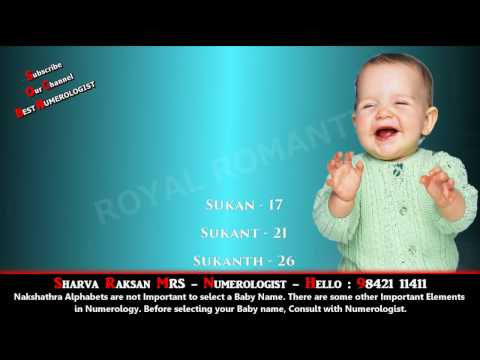 BOY BABY NAME STARTING WITH SU 12 - BEST BABY NAME, BUSINESS NAME NUMEROLOGY 9842111411