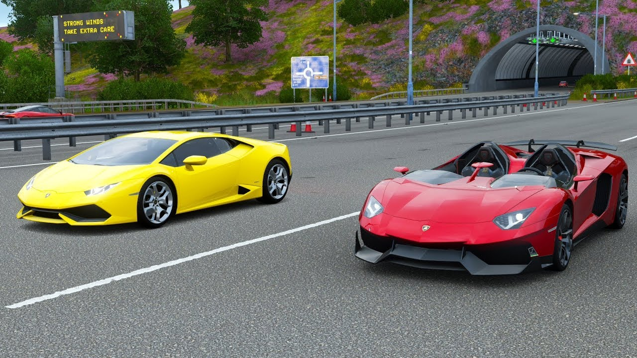Forza Horizon 4 Drag Race Lamborghini Aventador J Vs Lamborghini