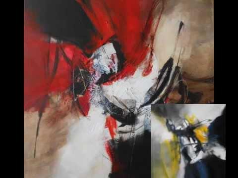 Detine peintre abstrait lyrique cr ation 2012 youtube for Peintres abstraits