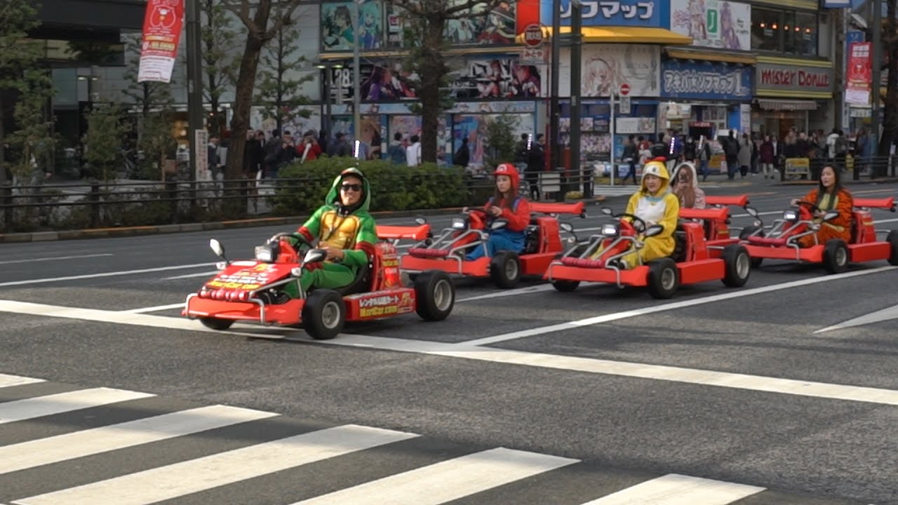 Mario Kart In Streets Of Japan Real Life Youtube