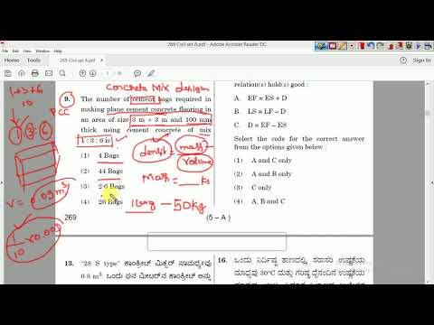 KPSC Irrigation Civil Engineering (Assistant Engineer) question paper detailed analysis part 1