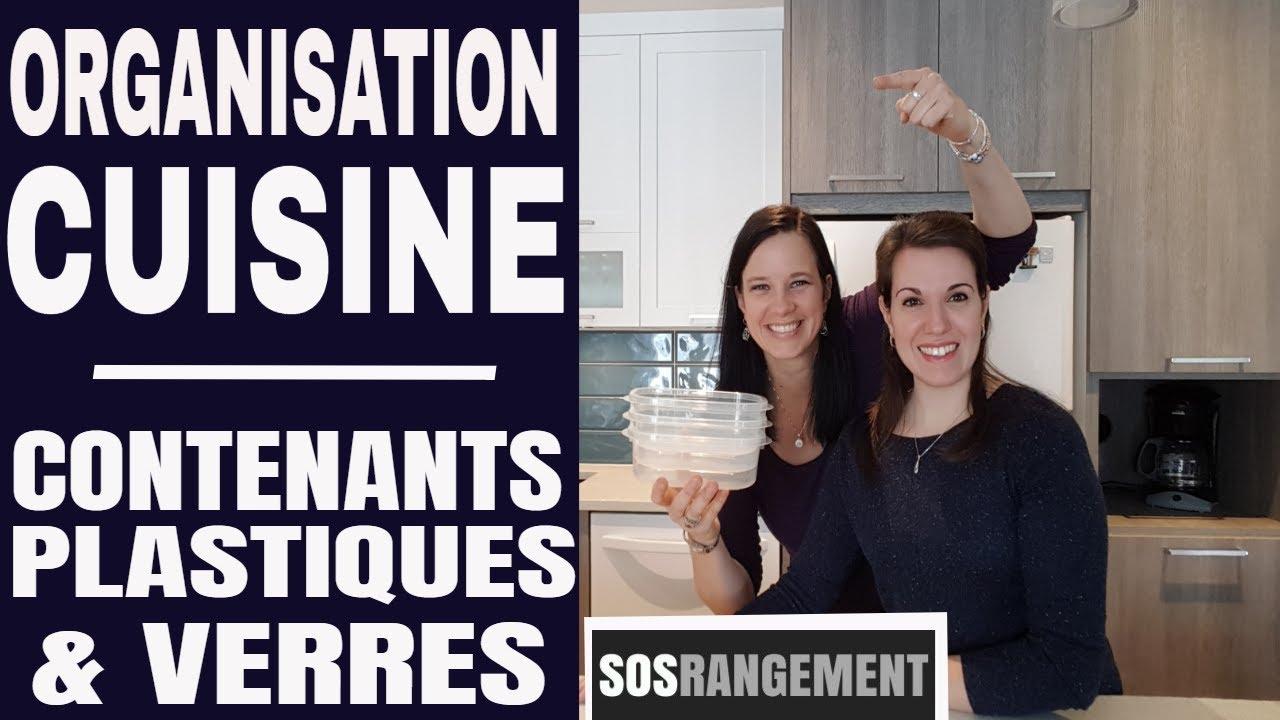 Comment Ranger Ses Verres organisation cuisine: les contenants en plastique ou en verre