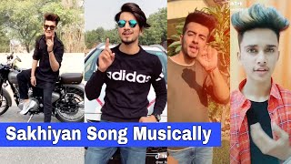 Sakhiyan Song Musically | Mrunal, Manjul, Mr. Faizu, Sanket, Lucky Dancer, Naveen Sharma