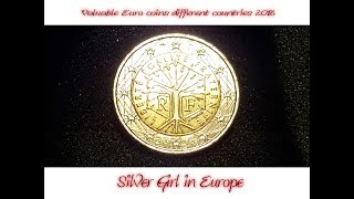 Valuable Euro coins different countries