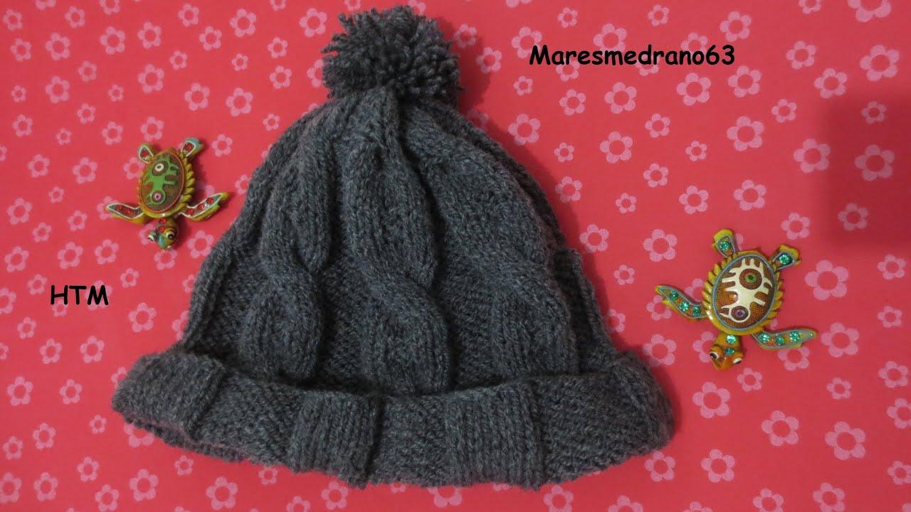 Gorro lana tejido con agujas circular 1 - YouTube