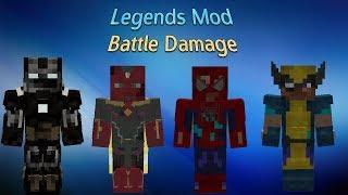 All Battle Damaged Marvel Suits(Minecraft Legends Mod)