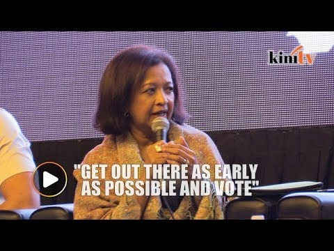 Marina Mahathir: Come out early to vote to make sure someone else won't take your vote