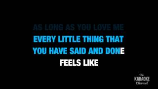 "As Long As You Love Me in the Style of ""Backstreet Boys"" karaoke lyrics (no lead vocal)"