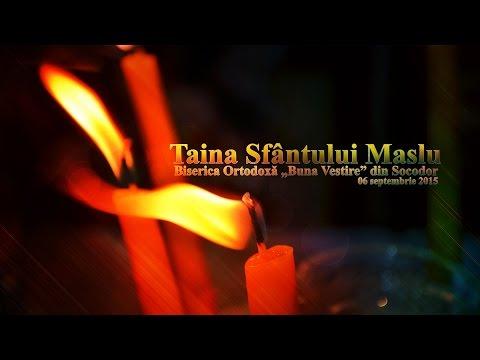"""Taina Sfantului Maslu - Biserica Ortodoxa """"Buna Vestire""""  din Socodor"""