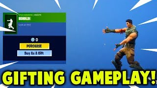 *NEW* GIFTING SYSTEM GAMEPLAY OUT NOW! (Fortnite Gifting Feature Leaked)