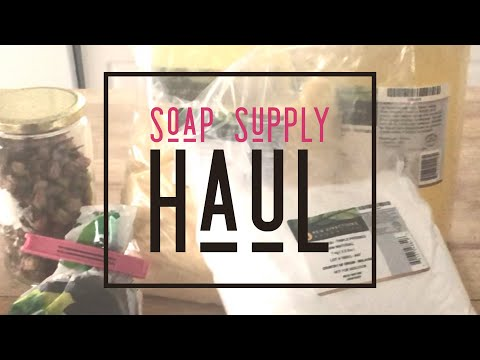 Soap Making Supplies Haul - Unboxing