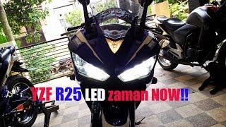 Pasang Lampu LED Cree V18S H7 di R25
