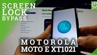 Hard Reset MOTOROLA XT1021 Moto E - Bypass Pattern Lock by Recovery Mode