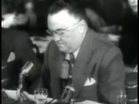 January 1951 - J. Edgar Hoover testifies before Senate Crime Investigation Committee