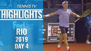 Ruud ousts the final seed, former champion Cuevas advances   Rio 2019 Highlights Day 4