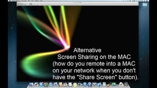 "MAC OSX HOWTO: Remote Desktop ""Screen Sharing"" for MAC OS X"