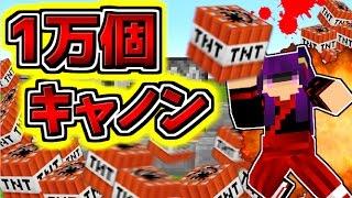 【Minecraft】TNT10000個を爆破!?マイクラ世界を消し飛ばす