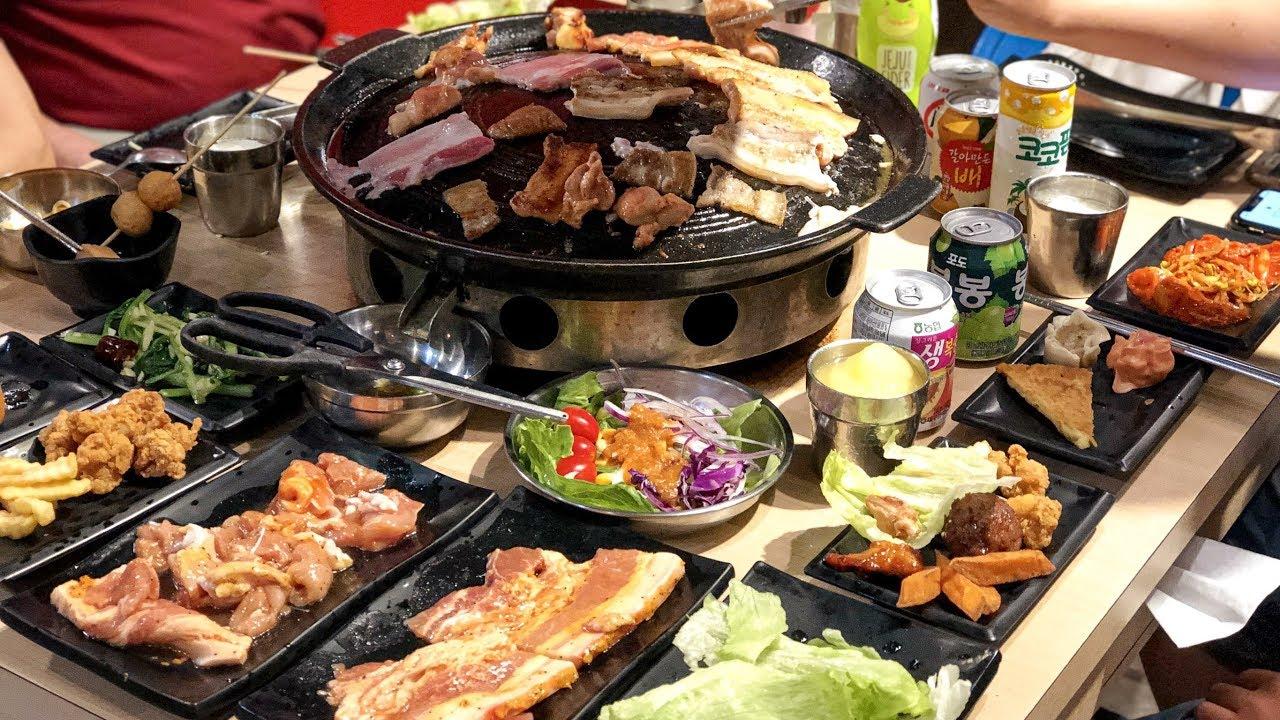【臺南美食】CP值超高的韓式烤肉一人只要$329/肉類熟食選項多樣化/豬對有韓式烤肉吃到飽 - YouTube
