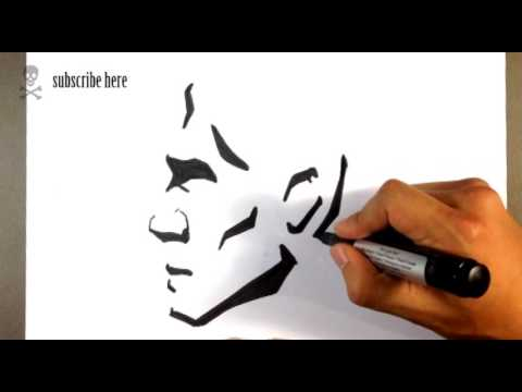 Drawing an Abstract Face Tattoo - Draw Tattoo Art