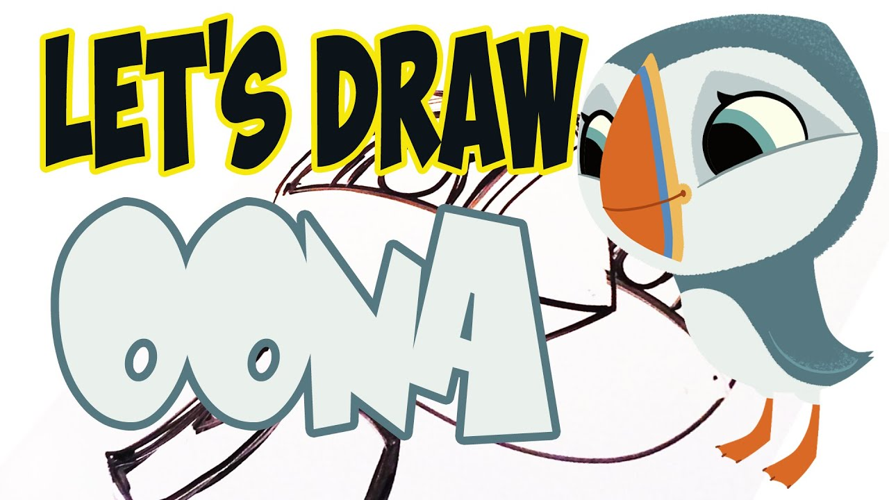 Drawing Oona from Puffin Rock! (Basic shapes and lines) - YouTube