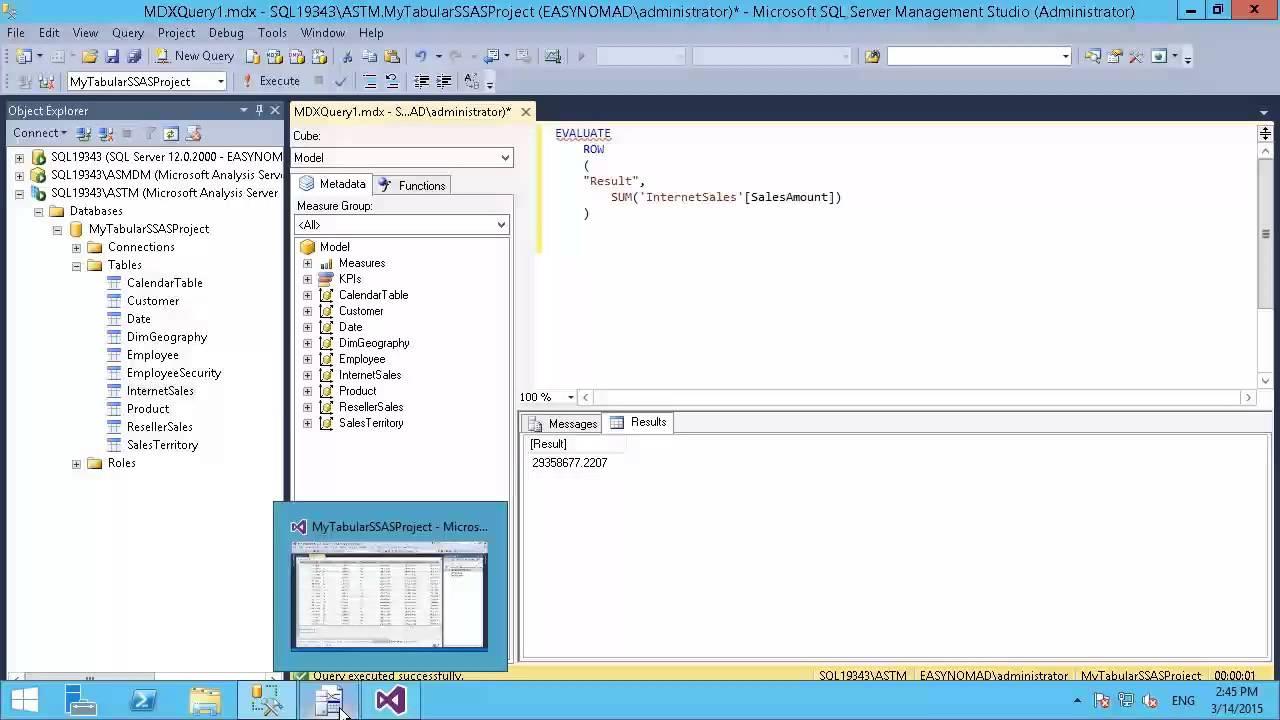 Microsoft SQL Server 2014 - Designing BI Solutions: Using SQL Server  Profiler to Monitor DAX Queries