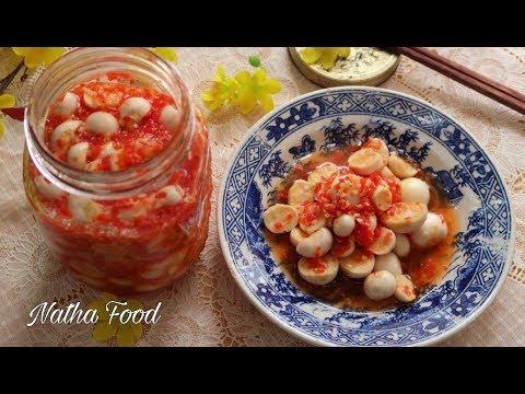 Cà pháo ngâm chua cay giòn rụm, chua chua cay cay mà trắng và thơm phức    Natha Food