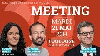 🔴 MEETING #ToulouseFi avec M Aubry, M Bompard et JL Mélenchon