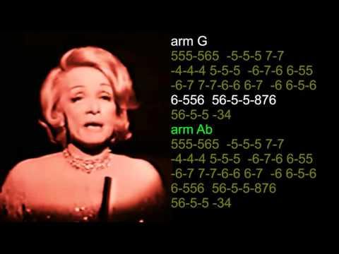 nº 540  Lili Marleen  (  Marlene Dietrich ) tabl.arm.diat.( G - Ab ) mundharmonika mp3