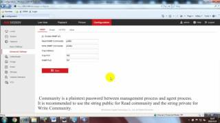 How to configure SNMP on a Hikvision Device - Simple Network Management Protocol