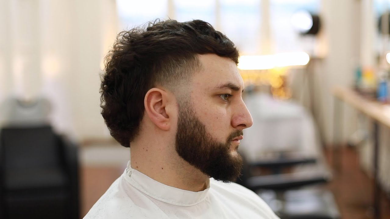 How To Cut A Modern Mullet Side Taper Tutorial Skin Fade Youtube
