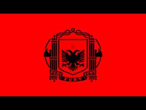 Bandera de Albania bajo ocupación Italiana (1939-43) - Albanian Kingdom under Italy (1939-43)