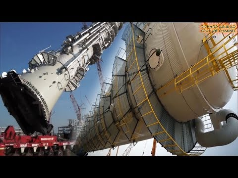 AMAZING! China vs USA Biggest Cranes In Action! Mega Cranes Lifting Giant Towers