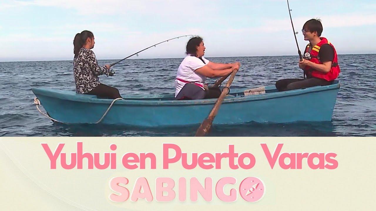 63083ed29 Yuhui aprendió a pescar salmón en Puerto Varas - Sabingo - YouTube