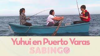 Yuhui aprendió a pescar salmón en Puerto Varas - Sabingo