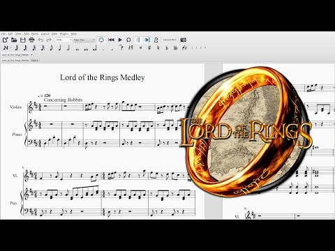 Lord of the Rings Medley ~ Violin and Piano