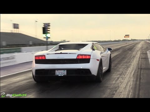 Twin Turbo Gallardo Vs Quarter Mile At Tx2k16 Youtube
