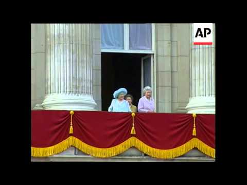 UK: THE QUEEN MOTHER BIRTHDAY CELEBRATIONS (V)