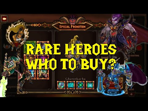 RARE heroes for sale! Who should you buy!? - Epic Heroes War Gameplay