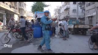 الشرطة الوطنية في الباب تنتشر لتنظيم الشوارع ومساعدة السكان