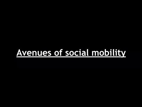 Sociology for UPSC : Social Mobility - Avenues and Consequences - Chapter 5 - Paper 1 - Lecture 20