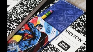 DIY Journal Bookmark with Pen Pocket