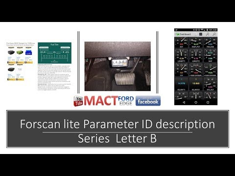 FORSCAN Lite app and the PIDS from A to Z series