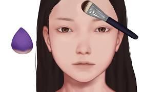 쌍커풀 연장 음영 메이크업   BROWN MAKEUP …