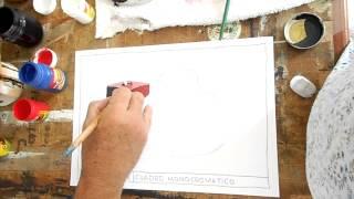 Pintando un cuadro Monocromático