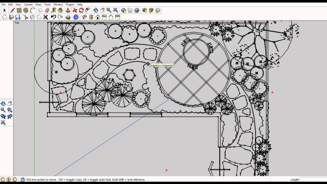 Move a 2D landscape plan to SketchUp - YouTube