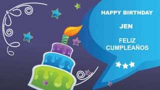 Jen - Card Tarjeta - Happy Birthday