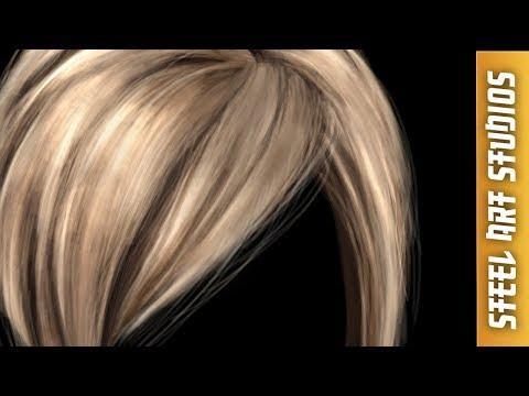 how to paint hair digitally   art tutorial