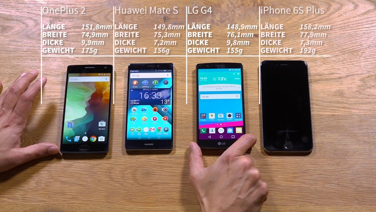 iphone 6 s vs huawei mate 9